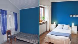 home staging pokoj niebieski